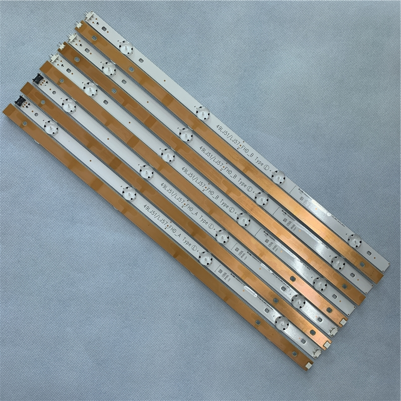LED Backlight Strip 8 Lamp For LG Innotek 17Y 49