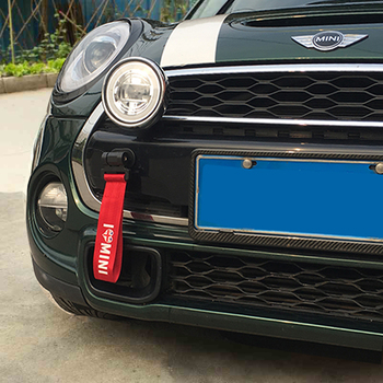 Car Styling Trailer Rope Towing Hook Exterior Decoration For Mini Cooper JCW One R55 R60 F54 F55 F60 Countryman Car Accessories