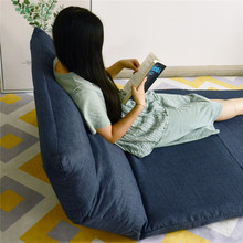 Adjustable Folding Movable Living Room Futon Two Seat Floor Chair Lounge Sofa Bed with Pillows  Sofas Durable