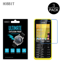 3Pcs HD Clear Explosion Proof PET Film For Nokia 301 Screen Protector 5H Scratch Resistant Anti Water Film Not Glass For Nokia
