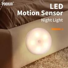 Light USB Stair-Lamp Led-Motion-Sensor Bathroom Magnetic Kitchen Hallway Rechargeable