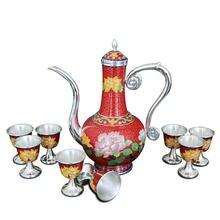 Китайский стиль s999 Стерлинговое Серебро перегородчатая Серебряная