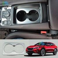 Mazda için CX-4 CX4 CX 4 2016 2017 2018 ABS Krom araba-styling su Bardağı tutucu çerçeve dekoratif kapak paneli oto Aksesuarları cas