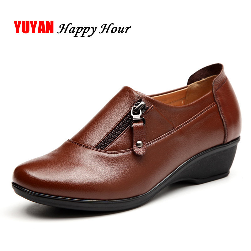 New 2019 Autumn Winter Shoes Women Flats Soft Leather Plush Warm Shoes for Winter Fashion Women's Flats Ladies Brand ZH2453