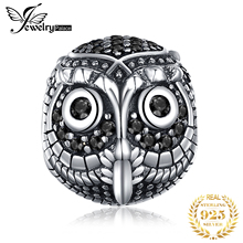 JewelryPalace Owl 925 Sterling Silver Beads Charms Silver 925 Original Fit Bracelet Silver 925 original For Jewelry Making Girls