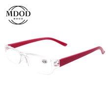 Gafas de lectura cuadradas y Retro para hombre y mujer, anteojos de lectura Unisex, portátiles, ultraligeros, de medio marco + 1,0 a + 4,0
