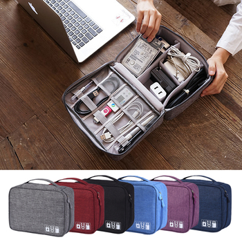 Portable Cable Digital Storage Bags Organizer USB Gadgets Wires Charger Power Battery Zipper Cosmetic Bag Case Accessories Item - discount item  7% OFF Home Storage & Organization