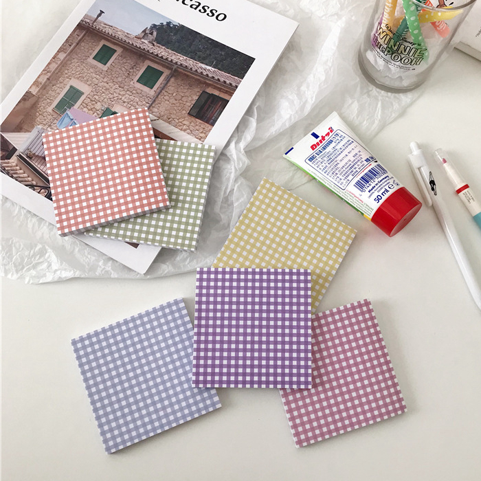 50Sheets/Lot Kawaii Korean INS Vintage Tablecloth Memo Pad N Times Sticky Notes Portable Notepad School Office Supply
