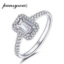 Женское кольцо с изумрудами pansysen обручальное из стерлингового