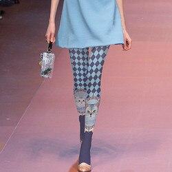 الخراب المرأة الجوارب عالية الجودة الطباعة جوارب القط منقوشة جوارب طويلة الأزياء المنصة أنيقة الجوارب