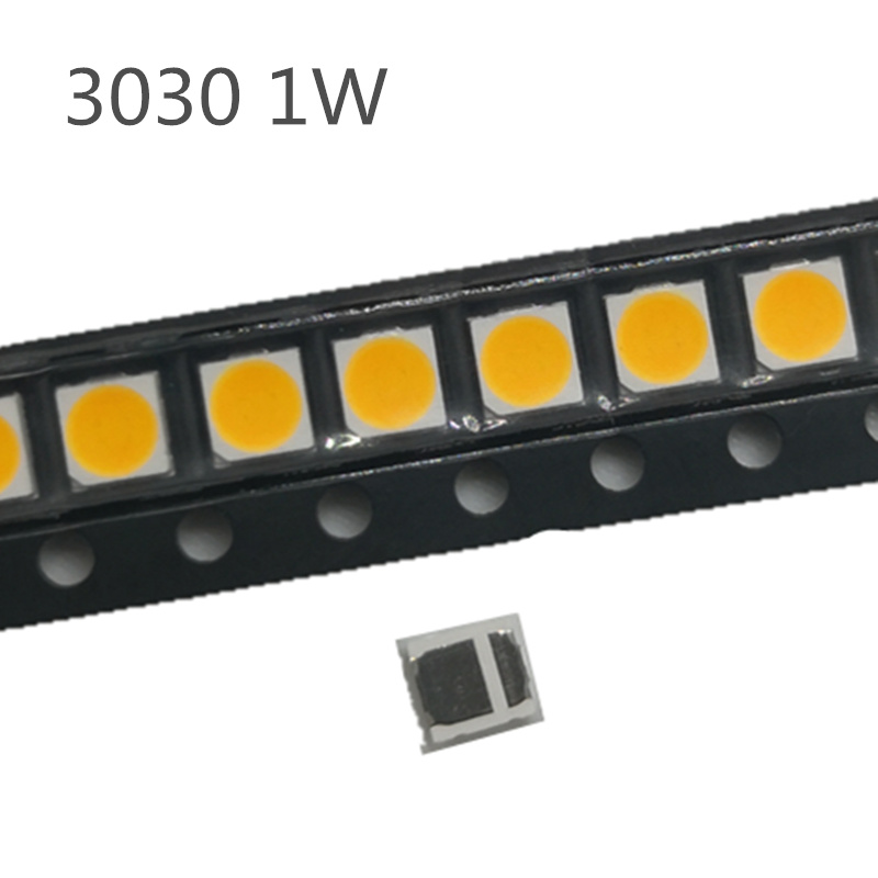 50-200PCS Back-light TV 3030 <font><b>SMD</b></font> <font><b>LED</b></font> <font><b>Diodes</b></font> TV Backlight <font><b>1W</b></font> 3V Cold White <font><b>LED</b></font> Diodo LCD Back light Television Backlit Repair image