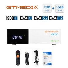Caixa da tevê de gtmedia gtc, 4k hd tv android 6.0 ultra 2g + 16g wifi, suporte m3u conjunto caixa superior 4 media player receptor de satélite 1080p