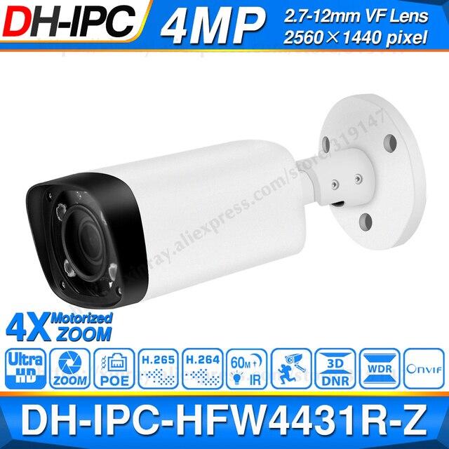 داهوا IPC HFW4431R Z 4MP كاميرا ليلية 60 متر الأشعة تحت الحمراء 2.7 ~ 12 مللي متر عدسة VF بمحركات التكبير التركيز التلقائي رصاصة IP كاميرا POE الأمن