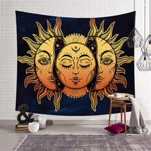 Sun Moon Tapestry Mandala Wall Hanging Map Psychedelic Carpet Ouija Tapestries Polyester Fabric Cloth