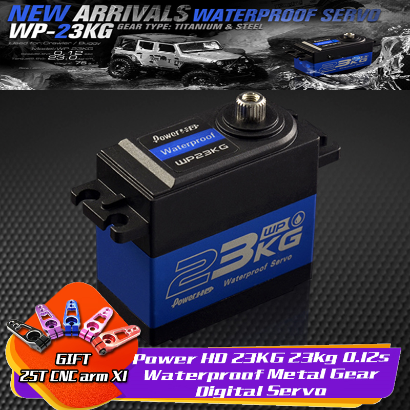 Power HD 23KG 23kg 0.12s Waterproof Metal Gear Digital Servo For 1/10 1/8 Crawler Buggy Monster Truck Off-road