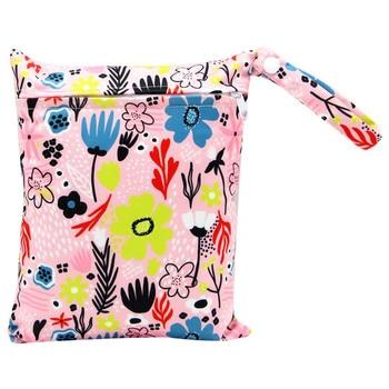 20*25cm Mini Diaper Wet Bag Single Pocket Zipper Baby Bags For Mom Maternity Travel Stroller Bag PUL Nappy Diaper Bag Wetbag - AS-MB-15