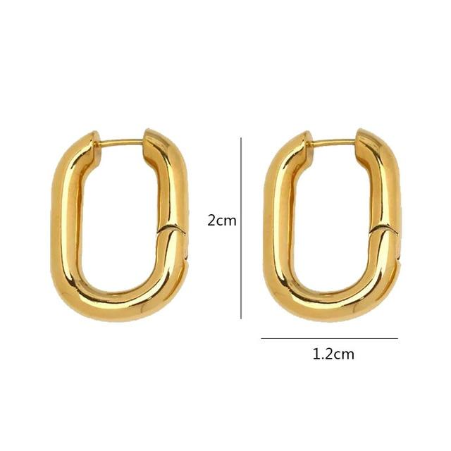 Sterling trendy O shaped earrings 2