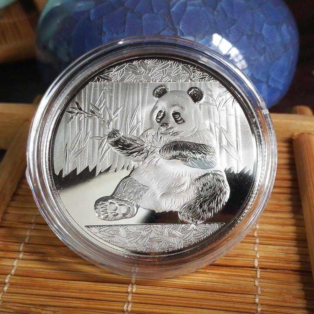 Монеты большая панда Baobao Китай памятная Коллекционная художественный подарок черно-белый медведь милый золотой серебряный цвет