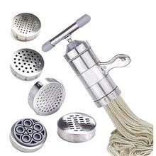 Ручной прибор для лапши, пресс, машина для приготовления пасты, кривошипный резак, соковыжималка для фруктов, кухонная посуда с 5 пресс, формы для приготовления спагетти, кухонные принадлежности