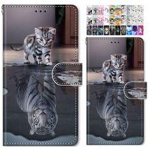 Cute Painted Flip Phone Bags For Case LG Stylo 4 5 V40 V50 ThinQ K40 K50 Q60 Q6