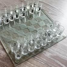 Juego De Mesa De ajedrez Tac para beber, Juegos De Mesa para Mesa De fiesta, entretenimiento para amigos, juguetes De cristal divertidos