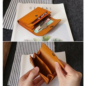 Image 2 - Carteiras de cartão de crédito couro genuíno artesanal id bus bolsa de cartão de licença dos homens de couro mini cintura bolsa de moedas