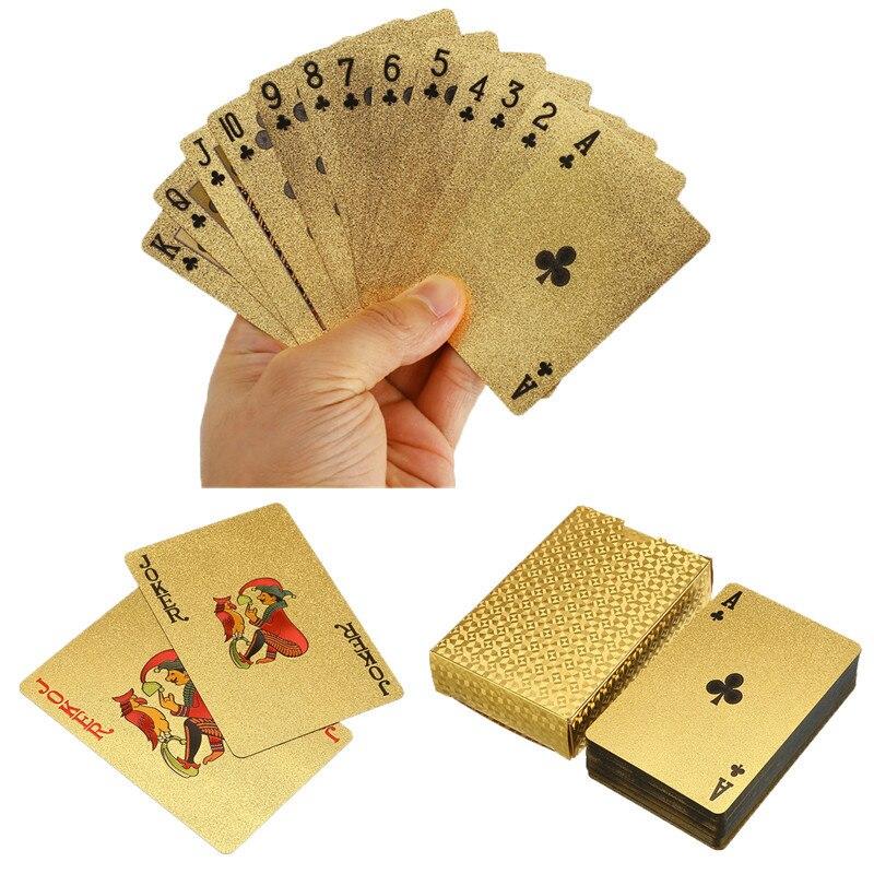 Cartas de póker de plástico impermeables de oro de 24K = póker de la hoja de la cubierta del juego de póker de la tabla para la venta Estante de almacenaje para cocina de 2/3/4 capas, Torre deslizante delgada, montaje movible, estante de plástico para baño, ruedas organizador de ahorro de espacio