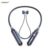 Auriculares inalámbricos con Bluetooth, dispositivo de audio estéreo, con sonido HiFi, succión magnética, impermeable, inalámbrico de deporte, con micrófono HD, 100 horas
