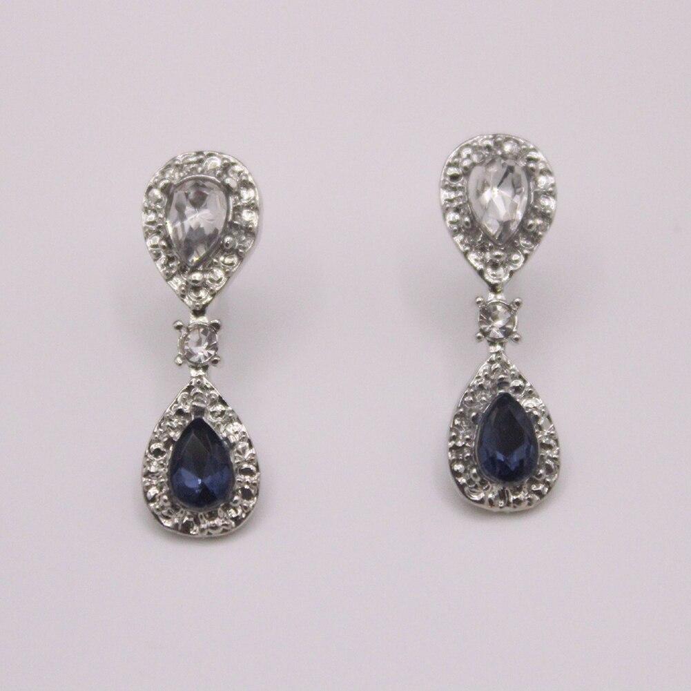 Women/'s Rhinestone Waterdrop Dangle Stud Earrings Wedding Party Jewelry Utility