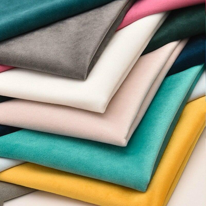 """Grande 57 """"de espessura estofamento veludo sofá tecido pelo meio-metro para almofada travesseiro contador cortina diy veludo material"""