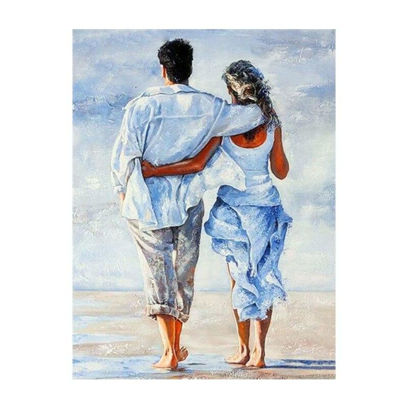 Couple Rain Umbrella Oil Paintings Printed on Canvas 21