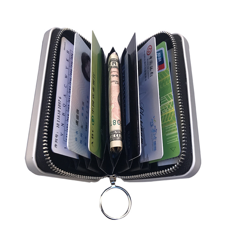 Nouveau Style portefeuille en alliage d'aluminium porte-monnaie en métal porte-monnaie multi-fonctionnel porte-monnaie porte-carte
