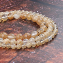 Fashion Golden Watermelon Round Beads Loose Jewelry Stone 4/6/8/10 / 12mm Suitable For Making Jewelry DIY Bracelet Necklace