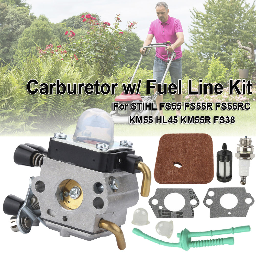 <font><b>Carburetor</b></font> <font><b>For</b></font> <font><b>STIHL</b></font> <font><b>FS38</b></font> <font><b>FS45</b></font> FS46 FS55 KM55 FS85 Air Fuel Filter Gasket Carb FS85 <font><b>Carburetor</b></font> Plus Accessory Set Dropshipping image