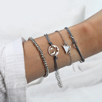 18 Styles Bohemian Bracelet Set For women Shell Star Map lotus pineapple Heart Natural stone Beads chains Bangle Jewelry 2020 3