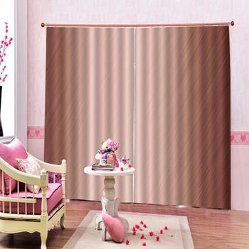 High quality custom 3d curtain fabric  Solid color 3D Window Curtain  print Luxury Blackout For Living Room