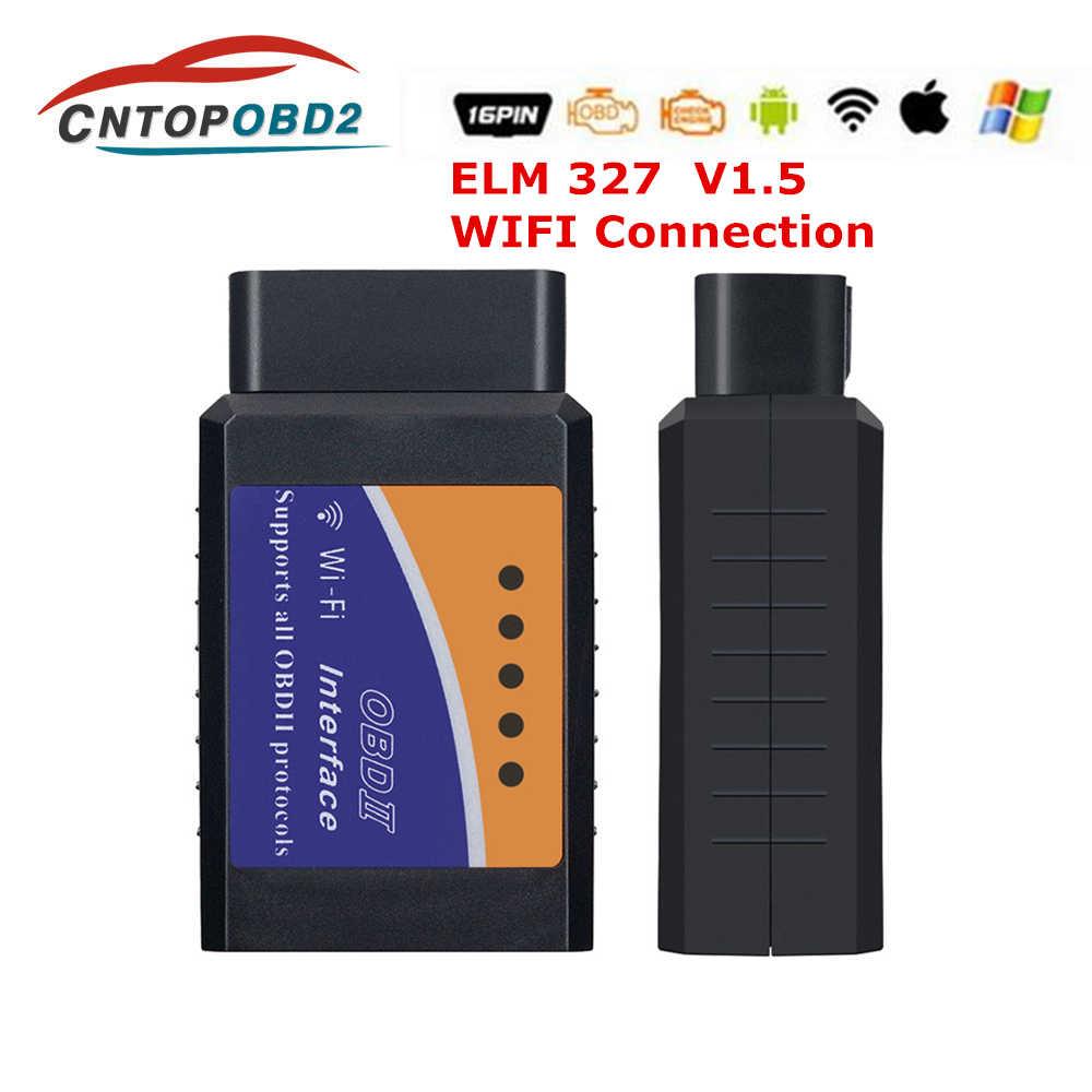 2019 Супер Мини ELM327 Wifi V1.5 OBD2 автомобильный диагностический инструмент ELM 327 wifi для