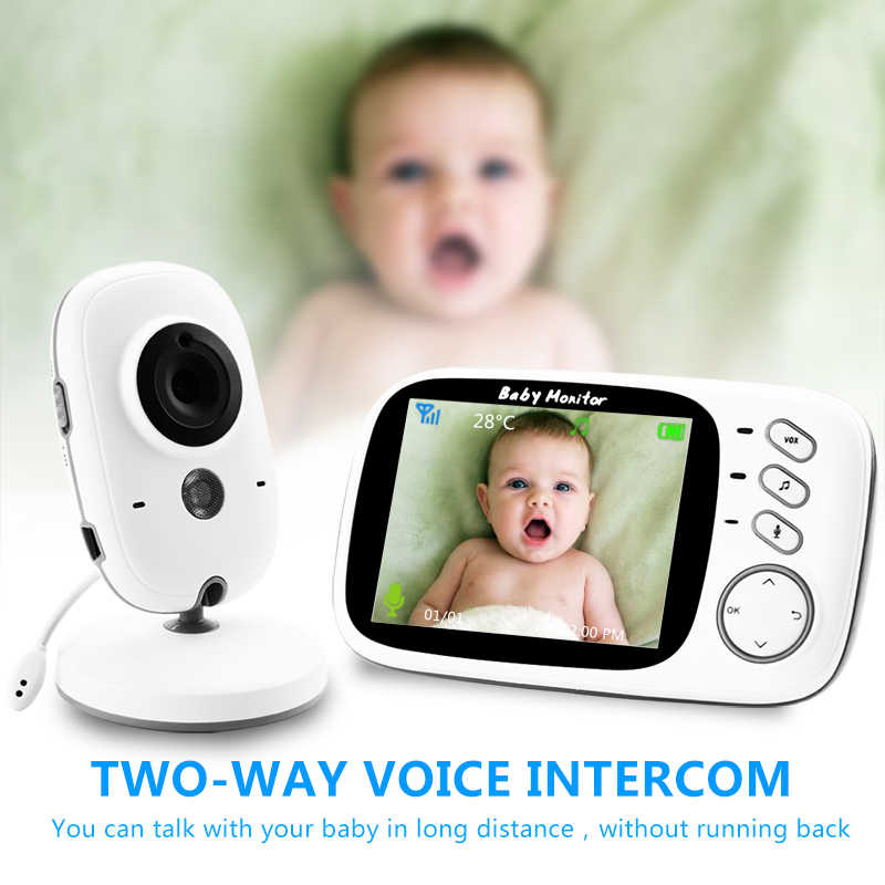 VB603 Nirkabel Video Pengawas Bayi dengan 3.2 Inci LCD 2 Way Audio Talk Night Vision Surveillance Keamanan Kamera Babysitter