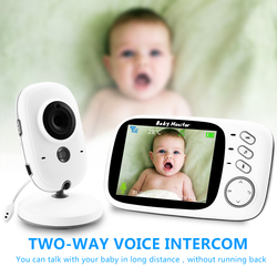 VB603 Monitor de bebé de Color de vídeo inalámbrico con LCD de 3,2 pulgadas 2 vías de Audio hablar visión nocturna vigilancia cámara de seguridad niñera