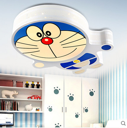 Doraemon Cartoon LED Ceiling Lamp Warm Bedroom Lighting GIRL'S And BOY'S Children Cute Room Lamps Jingle Cats
