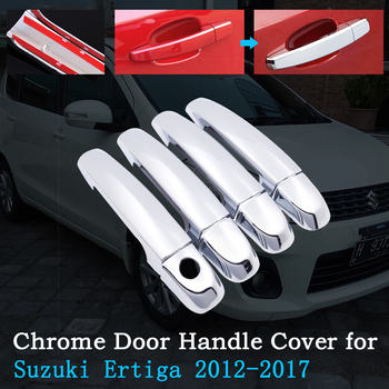 Chrome Car Door Handle Cover for Suzuki Ertiga 2012~2017 Luxury Covering Trim Set Exterior Car Accessories 2013 2014 2015 2016 image