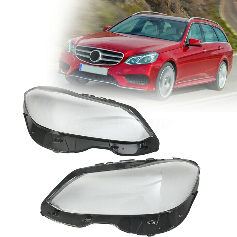 2Pcs Front <font><b>Headlight</b></font> Cover Lamp Lens Replacement for Mercedes-Benz E Class <font><b>W212</b></font> E350 14-16 image