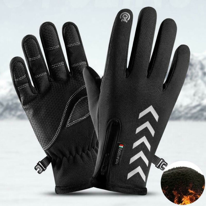2019 Winter Touch Screen Gloves Men Women Reflective Warm Gloves Touch Screen Thermal Walking Sports Running