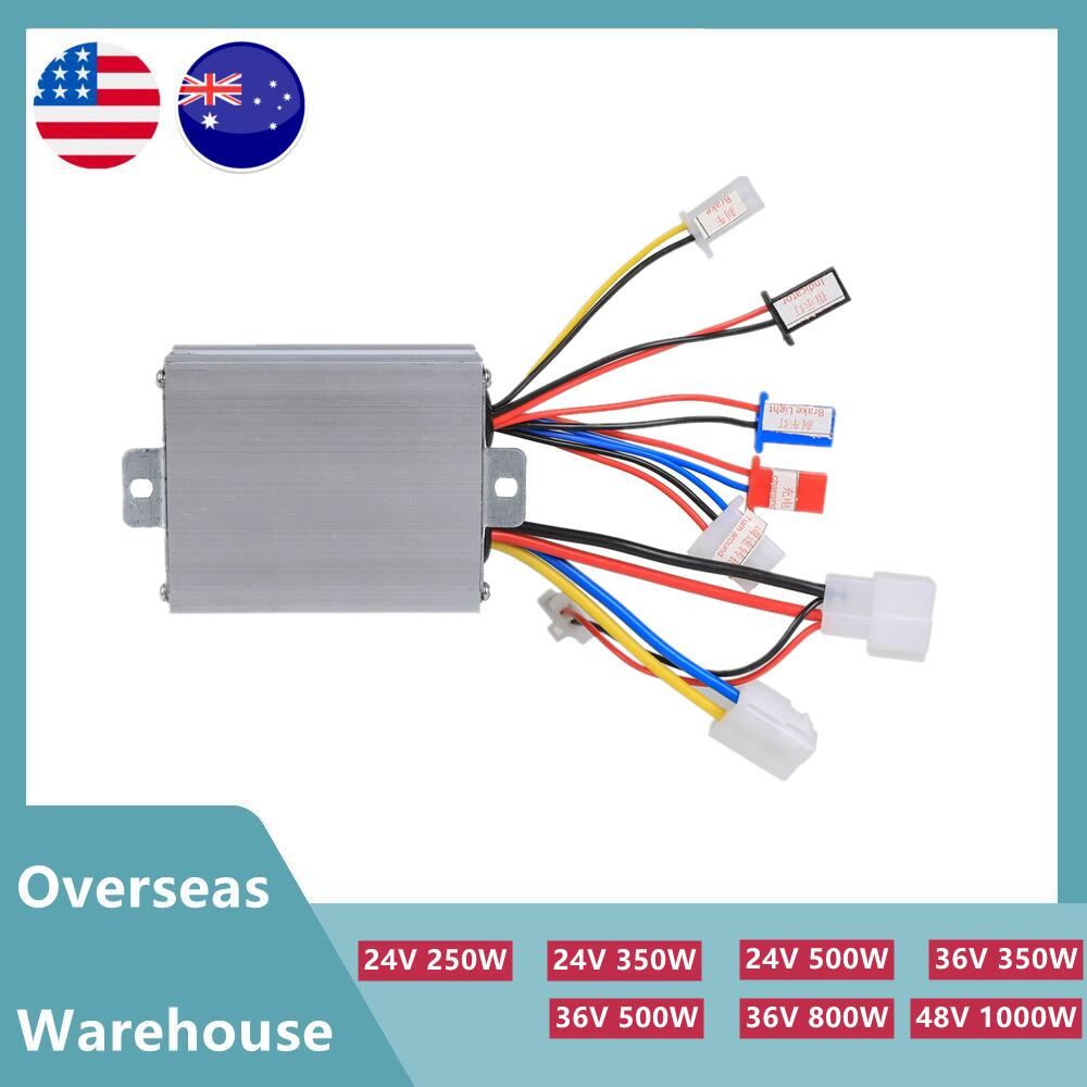 24V/36V 250W/350W/500W/800W 1000W Electric Motor Brushed Speed Controller Box for ATV Go Kart Quad Buggy Pit Bike Scooter