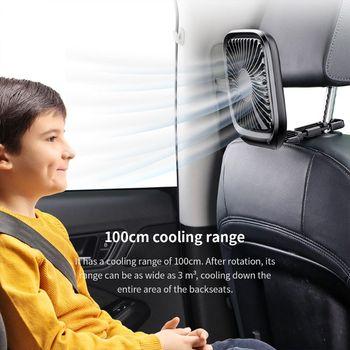 12V Mini Portable Car Seat Clip Fan High pressure fiberglass fan bladed Air Cooler Car Fan Air Cooling Fan