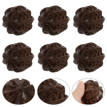 6Pcs Handheld Massage Balls walnut Massage Balls Acupressure Balls (Dark Brown)