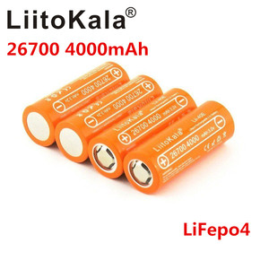 LiitoKala Lii-40E 3.2V 26700 4000mAh lifepo4 rechargeable battery 10A rate discharge Sheets replacement battery Instead of 26650
