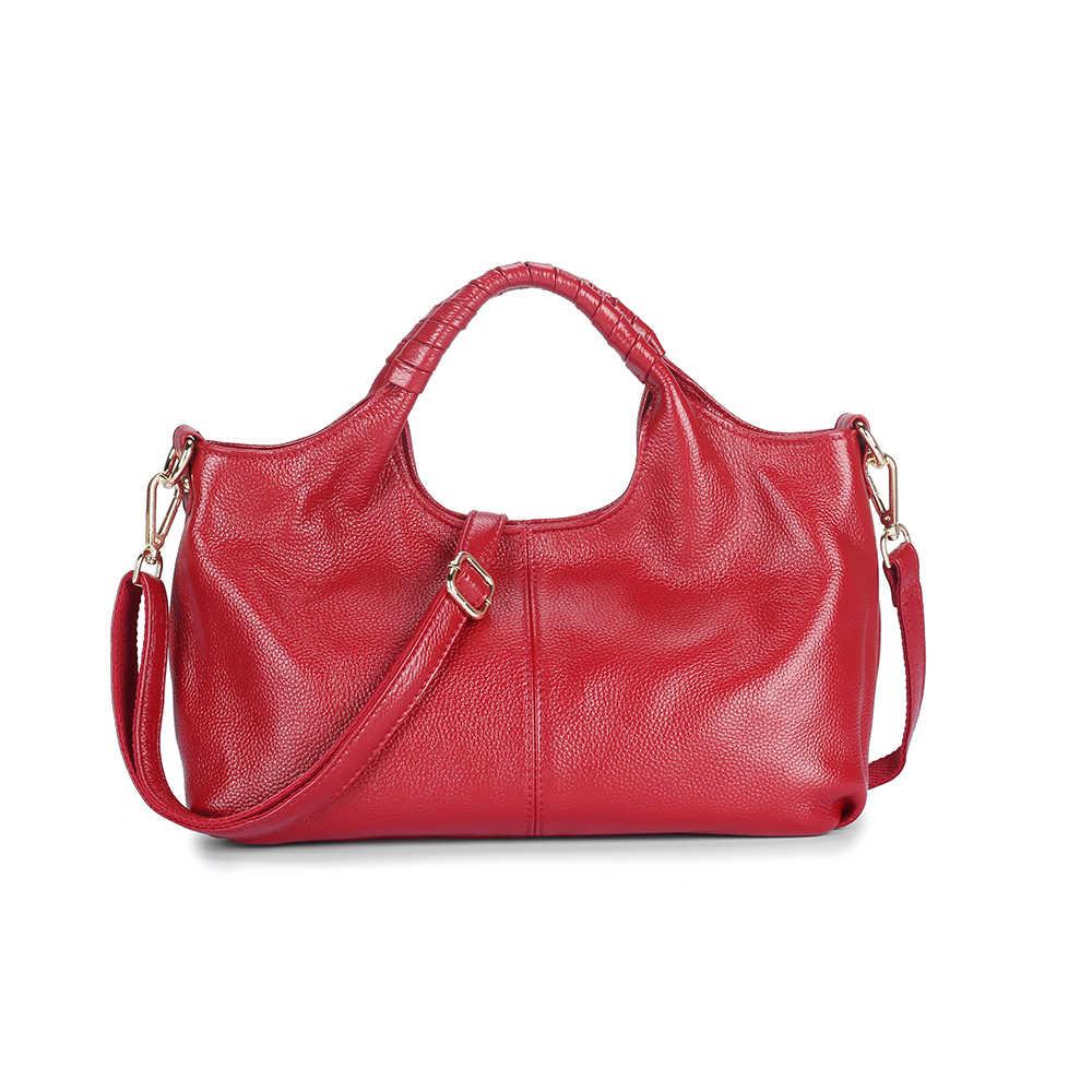 大容量の女性メッセンジャーバッグデザイナーの女性のバッグリアルレザーの高級女性のショルダーバッグメイン女性ビッグトートバッグ