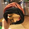 Ободок для волос женский однотонный, модный обруч с перехлёстом в Корейском стиле, аксессуар на голову, 1 шт.
