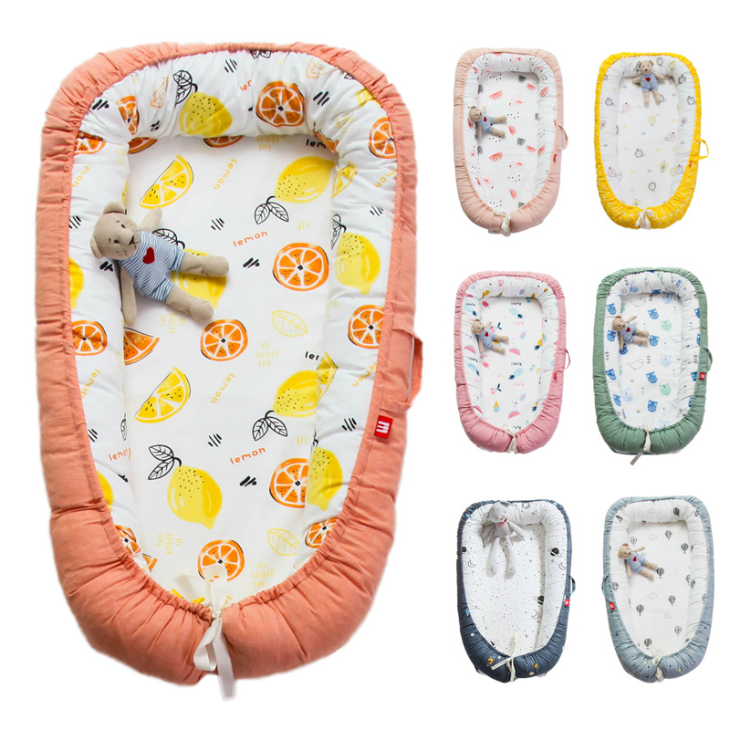 Newborn Baby Portable And Washable Crib Travel Bed Nest Bed Crib Cotton New Crib Travel Bed For Children Infant Toddler Bassinet